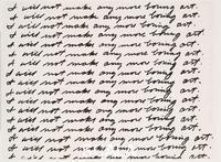 Baldessari, John (1931-2020) I Will Not Make Any More Boring Art, 1971