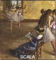 Degas, Edgar (1834-1917) The Ballet Class, c.1880 .