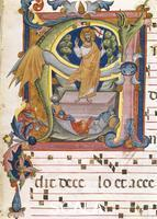 Pacino di Bonaguida and workshop (attr.) Antiphonary A 4 c. 3 r: Resurrection
