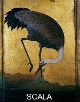 Arte giapponese Le gru. Epoca Edo, sec. XVII - part. (gru cinerina)
