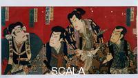 Utagawa Kuniyoshi (1797-1861) I quattro attori del teatro Kabuki