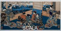 Utagawa Kunisada (1785-1864) Coppia che si specchia