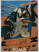 Utagawa Kunisada (1785-1864) Marinaio al timone