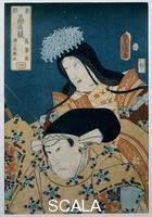 Utagawa Kunisada (1785-1864) Il principe Minamoto e la principessa Shobumae