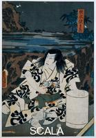 Utagawa Kunisada (1785-1864) Ritratto di Sugimoyo Sasanojo