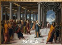 Tintoretto (Robusti, Jacopo 1518-1594) Jacopo Tintoretto dit le Tintoret (1518-1594); Jesus t la femme adultere; Galerie Nationale dArt Antique; Rome