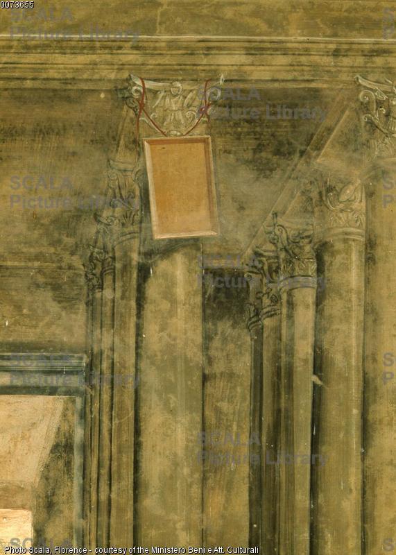 Sodoma (1477-1549) Storie di S. Benedetto: il santo risalda il capistero rotto - p. (capistero)