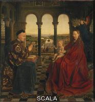Eyck, Jan van (c. 1390-1441) The Madonna of Chancellor Rolin, 1435