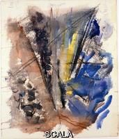 Marin, John (1870-1953) Untitled (The Blue Sea). c. 1921
