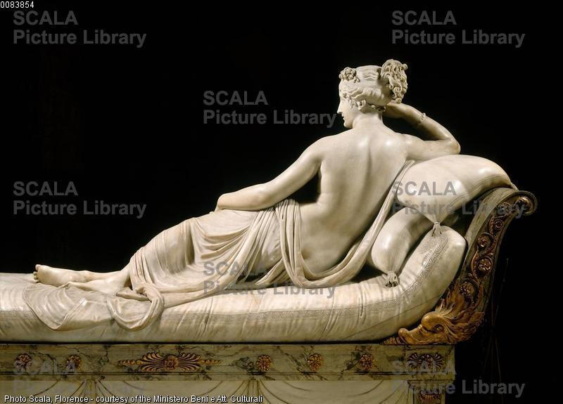 Canova, Antonio (1757-1822) Paolina Borghese come Venere vincitrice: (di spalle) - particolare