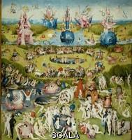 Bosch, Hieronymus (1450 ca.-1516) Trittico del giardino delle delizie, o il quadro del corbezzolo, 1500 - 1505. Parte centrale