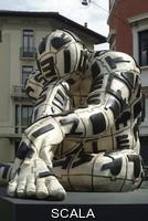 ******** Trans lettera , 2000, opera in bronzo di Rabarama esposta a Brescia