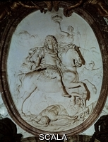 Coysevox, Antoine (1640-1720) Medallon De Luis XIV Triunfando Sobre Sus Enemigos - Salon De La Guerra Del Palacio De Versalles - Siglo XVII - Barroco Frances