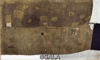 Burri, Alberto (1915-1995) Toiles asac, 1952, Toile de sac, ficelle et acrylique, 1,5 x 2,5 m , Galleria Nazionale dArte Moderna, Rome