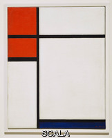 Mondrian, Piet (1872-1944) Composition with Red and Blue, 1933