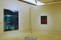 ******** Installation view of the exhibition 'Monet y la abstraccion'. Museo Thyssen-Bornemisza, February 23rd through May 30th, 2010. A painting by Gerhard Richter (b. 1932) and one by Mark Rothko (1903-1970)