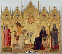 Martini, Simone (1284-1344) Annunciation and Two Saints, The