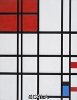 Mondrian, Piet (1872-1944) Composition No. 7 with Red and Blue, 1937-1942.
