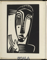 Schmidt-Rottluff, Karl (1884-1976) Little Prophetess (Kleine Prophetin) from 'Das graphische Jahrbuch' (The Print Yearbook), by various authors, 1920 (print executed 1919)