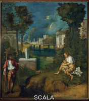 Giorgione (Barbarelli, Giorgio from Castelfranco 1477-1510) The Tempest