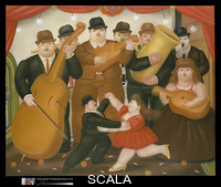 Botero, Fernando (b. 1932) Dancing in Colombia, 1980. Oil on canvas; 74 x 91 in. (188 x 231.1 cm). Anonymous Gift, 1983 (1983.251).