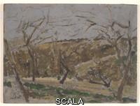 Roussel, Ker-Xavier (1867-1944) Landscape, n.d. Oil on canvas. Canvas: 9 13/16 x 13 1/8 in. (24.9 x 33.3 cm); frame: 18 1/4 x 21 3/4 x 1 3/4 in. (46.4 x 55.2 x 4.4 cm). Joseph F. McCrindle Collection. N. Inv. : 2010.4.57