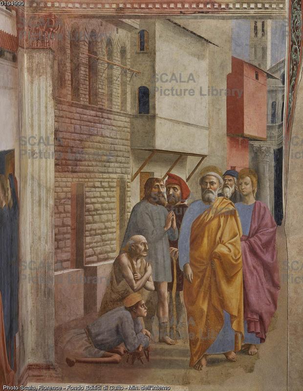 Masaccio (1401-1428) S. Pietro guarisce gli infermi