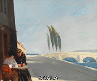 Hopper, Edward (1882-1967) (Le Bistro or The Wine Shop). (1909). Oil on canvas. Overall: 24 x 28 7/8in. (61 x 73.3 cm). Josephine N. Hopper Bequest. Inv. N.: 70.1187