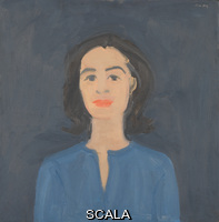 Katz, Alex (b. 1927) Ada on Blue. (1959). Oil on composition board. Overall: 16 1/16 x 15 3/4in. (40.8 x 40 cm). Gift of the artist. Inv. N.: 97.44.2