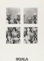 Artschwager, Richard (1923-2013) Sailors, from an untitled portfolio, 1972. Screenprint, composition: 14 13/16 x 13 1/8