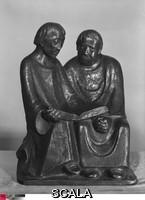 Barlach, Ernst (1870-1938) Monks Reading. 1932. Bronze, h. 23 1/2 in. (59.7 cm). signed l.r.