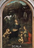 Leonardo da Vinci (1452-1519) Leonardo da Vinci (1452-1519); Vierge aux rochers; Musee du Louvre; Paris