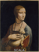 Leonardo da Vinci (1452-1519) Lady with an Ermine, c. 1490