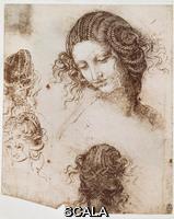 Leonardo da Vinci (1452-1519) Study for Leda's hair (facsimile)