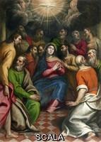 ******** Pentecoste - olio su tela - G.Pinelli - XVII secolo - Temù (Bs) chiesa parrocchiale di S. Bartolomeo