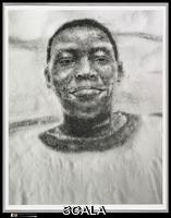 Muniz, Vik (b. 1961) Big James Sweats Buckets, 1996. Gelatin silver print, 33.7 x 26.7 cm (13 1/4 x 10 1/2 in. ). Purchase, Anonymous Gift, 1997 (1997.230.2). Copy Photograph © The Metropolitan Museum of Art