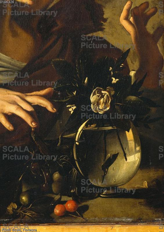 Caravaggio (Merisi, Michelangelo da 1571-1610) Ragazzo morso da un ramarro - p. (vaso di fiori)