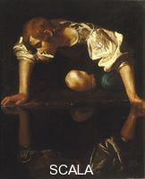 Caravaggio (Merisi, Michelangelo da 1571-1610) Michelangelo Merisi dit le Caravage (1571-1610), attribue; Narcisse; Galerie Borghese; Rome