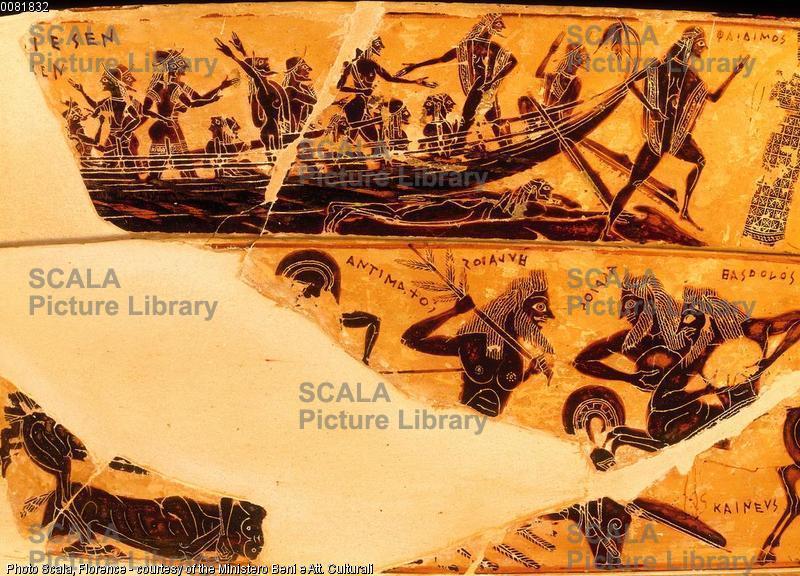 Ergotimo e Clizia (sec. VI a.C.) Vaso Francois - p. (sbarco di Teseo vittorioso sul minotauro a Delo)