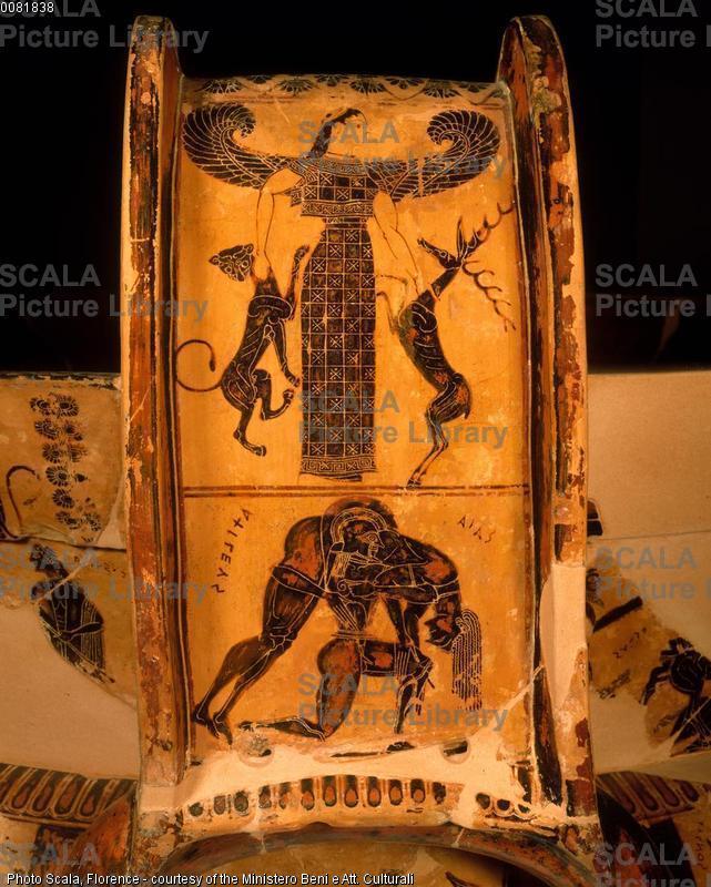 Ergotimo e Clizia (sec. VI a.C.) Vaso Francois - p. (Diana e Aiace col corpo di Achille)