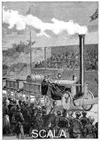 ******** Stephenson's 'Rocket' winning the Rainhill Trials, 14 October 1829 (1898).