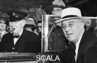 ******** Franklin D Roosevelt and Winston Churchill meeting in Quebec, Canada, 1944.