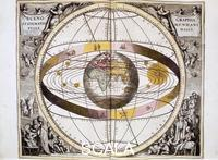 ******** Ptolemaic (geocentric/Earth-centred) system of the Universe, 1708.