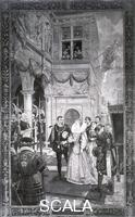 Beavis, Richard (1824-1896) 'Queen Elizabeth (I) Received by Sir Thomas Gresham on the Opening of the Royal Exchange, 1571', (1887)