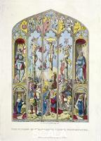 ******** East window in St Margaret, Westminster, depicting the crucifixion, London, 1795