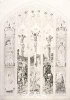 Wright, John (1745 ca.-1820) Finestra orientale raffigurante la crocifissione in St Margaret, Westminster, Londra, 1787
