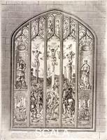 ******** East window in St Margaret, Westminster, depicting the crucifixion, London, 1800