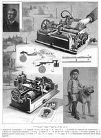 ******** Facsimile or copying telegraph system by Amstutz of Cleveland, Ohio, USA, 1896.