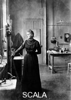 ******** Marie Curie, Polish-born French physicist in her laboratory, 1912.