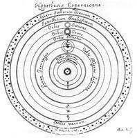Hevelius, Johannes (17th cent.) Copernican (heliocentric) system of the universe, 17th century.